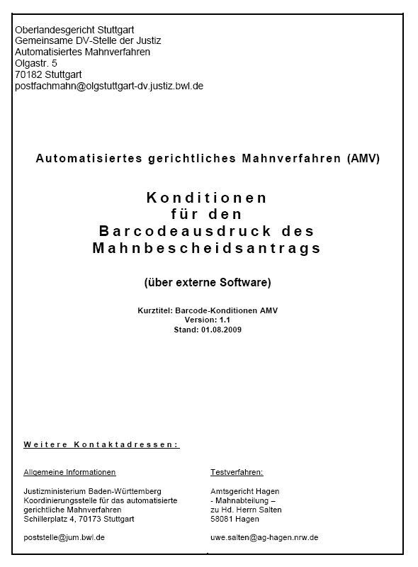 Konditionen für Barcodeanträge
